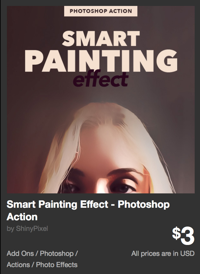 Smart Painting Effect - Photoshop Action by ShinyPixel | GraphicRiver