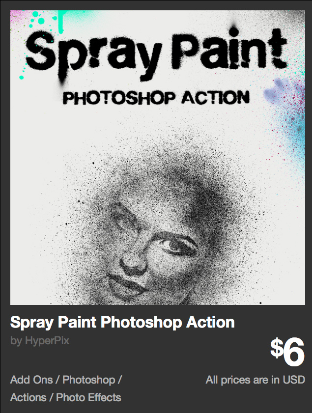 Spray Paint Photoshop Action by HyperPix | GraphicRiver