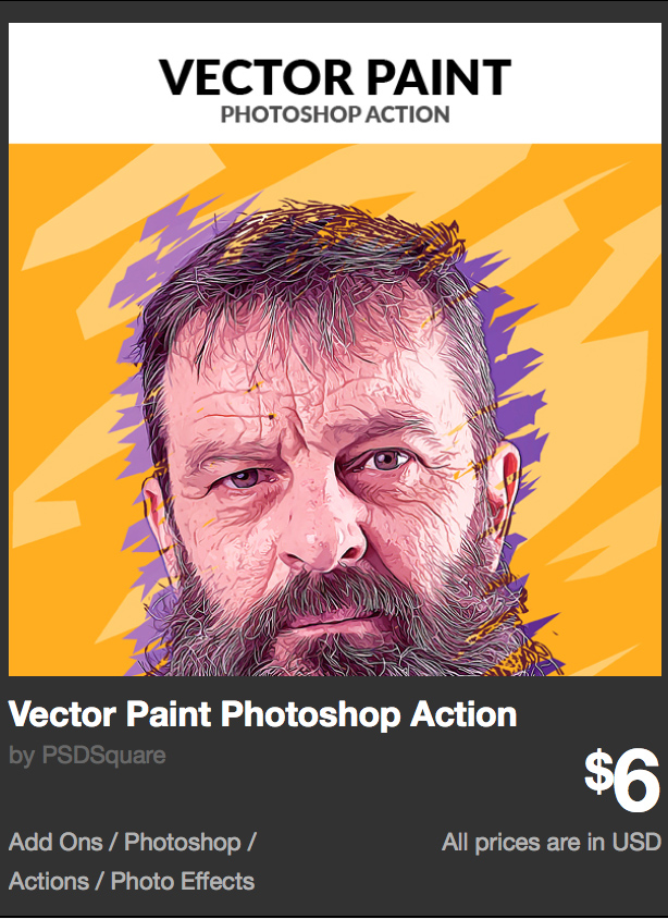 Vector Paint Photoshop Action by PSDSquare | GraphicRiver