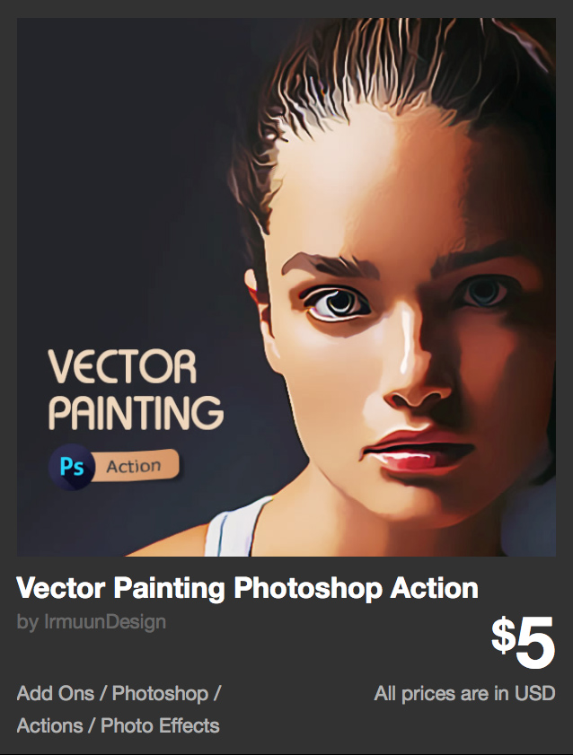 Vector Painting Photoshop Action by IrmuunDesign | GraphicRiver