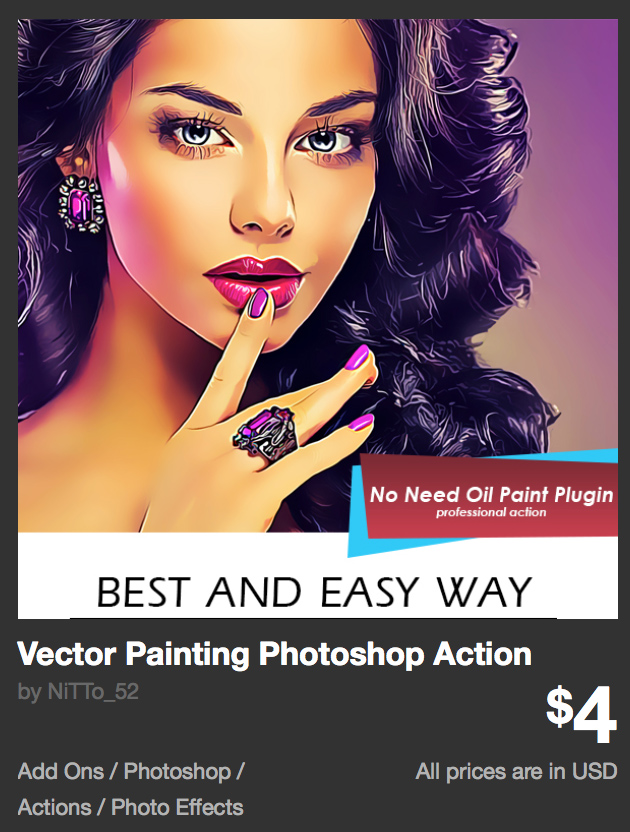 Vector Painting Photoshop Action by NiTTo_52 | GraphicRiver