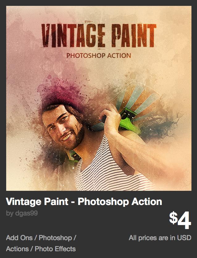 Vintage Paint - Photoshop Action by dgas99 | GraphicRiver