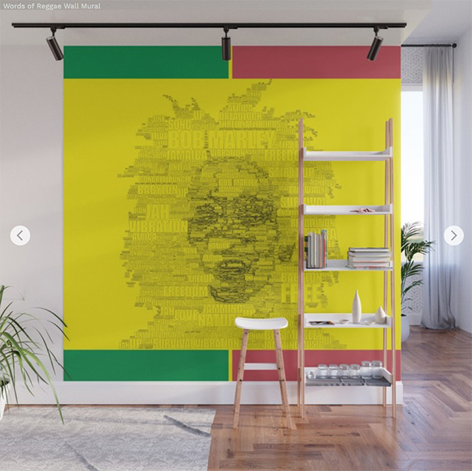 Wall Mural  Words of Reggae by Angel Decuir | society6