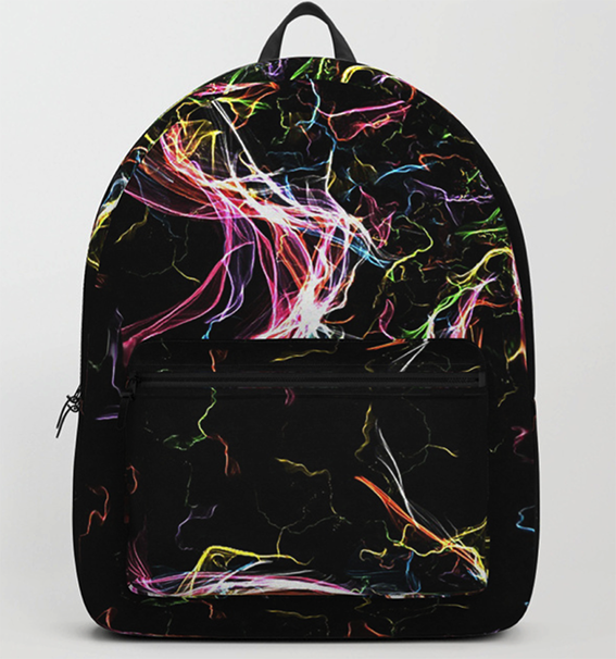 Radiant lighting butterfly Backpack by angeldecuir | Society6