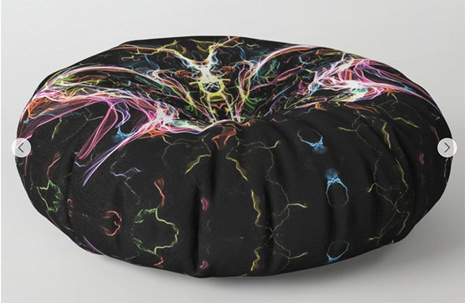 Radiant lighting butterfly Floor Pillow by angeldecuir | Society6