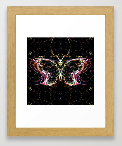 Radiant lighting butterfly Framed Art Print by angeldecuir | Society6 http://bit.ly/2HZuYqW