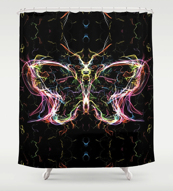 Radiant lighting butterfly Shower Curtain by angeldecuir | Society6
