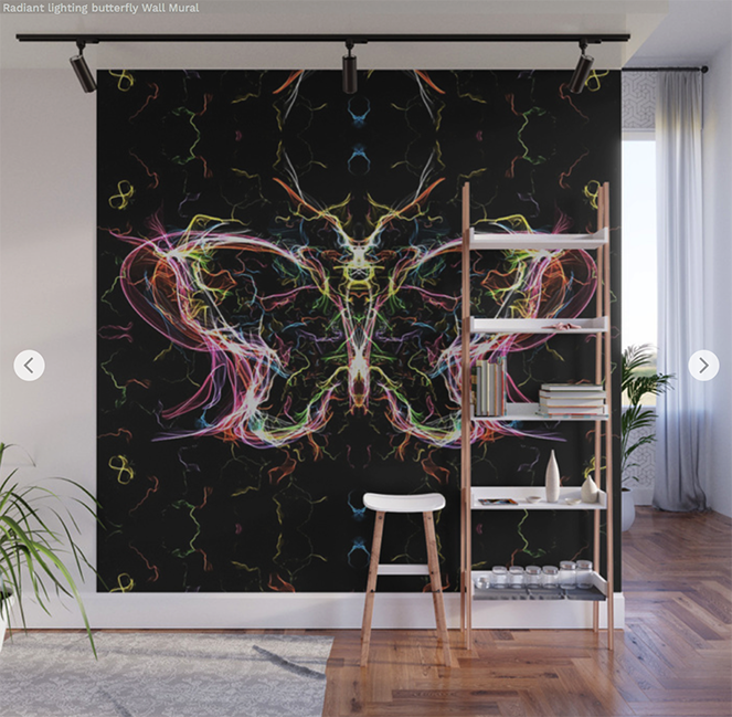 Radiant lighting butterfly Wall Mural by angeldecuir | Society6