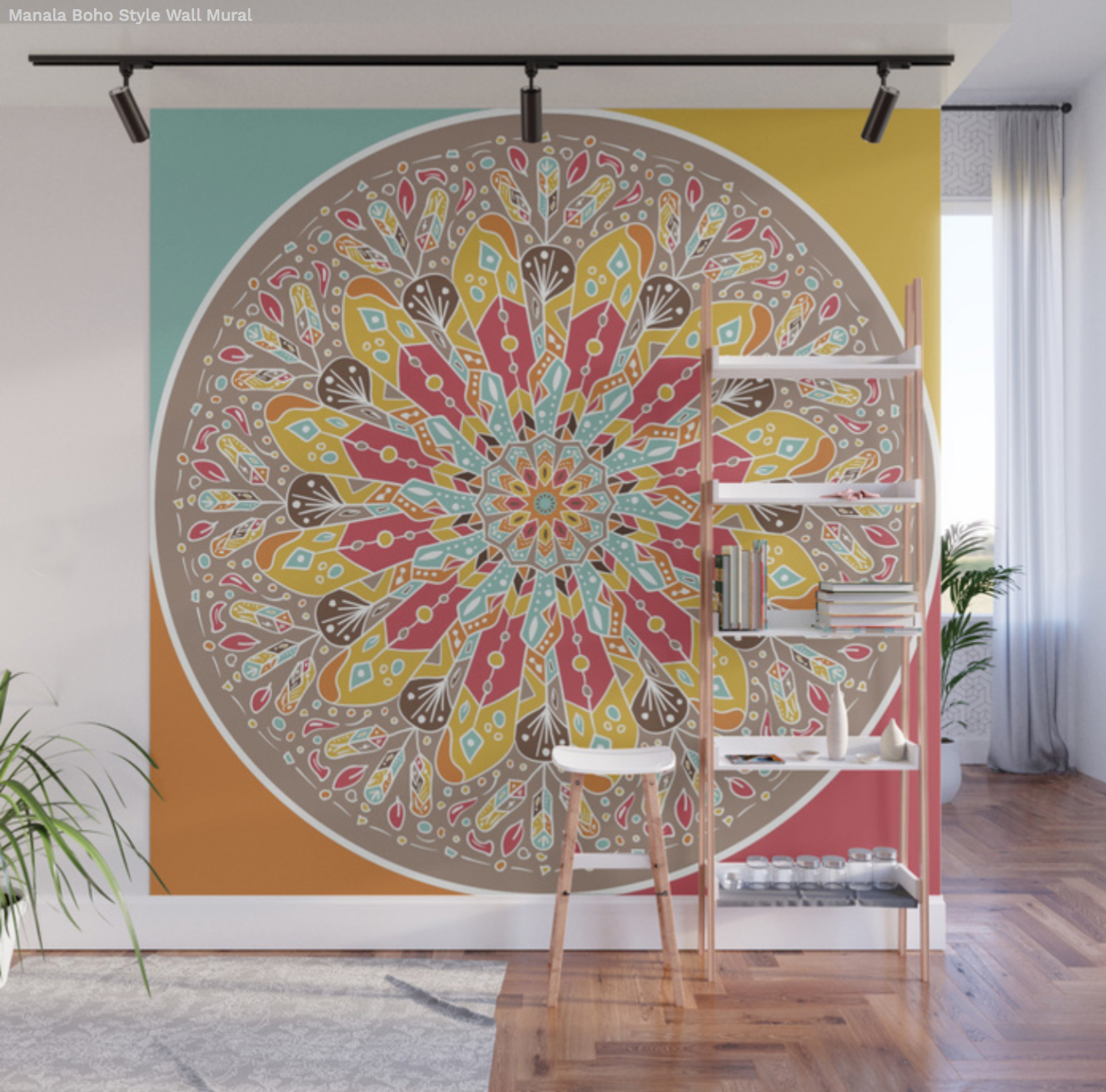 Wall mural Manala Boho Style by Angel Decuir | Society6