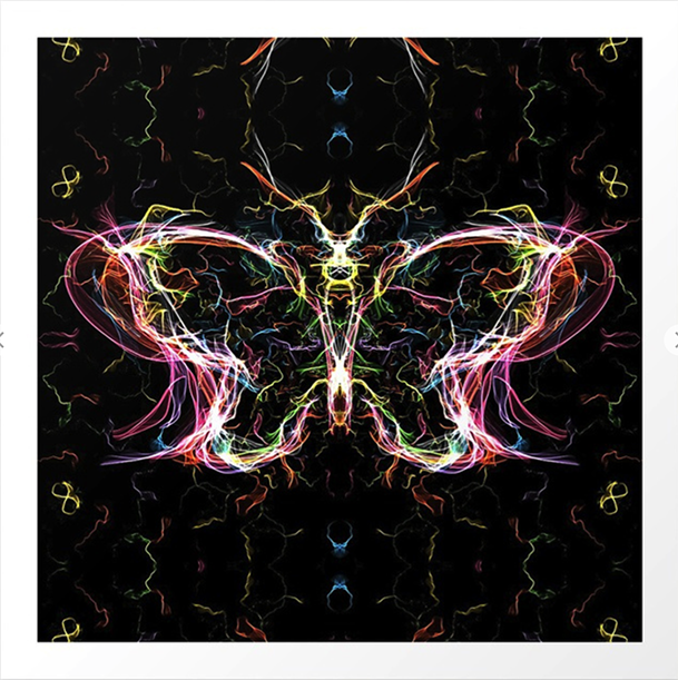 Radiant lighting butterfly Art Print by angeldecuir | Society6 http://bit.ly/2rwHrai