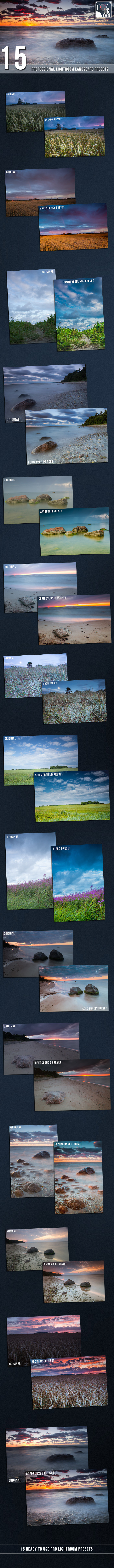 15 PRO Landscape and Nature Lightroom presets by jevgenikfoto | GraphicRiver