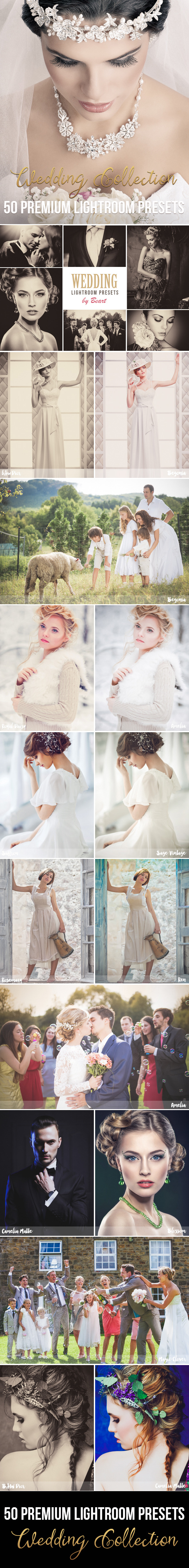 50 Premium Wedding Lightroom Presets by beart-presets | GraphicRiver