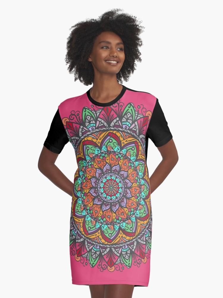 Vestido camiseta «Great #mandala Hand Made 1» de angeldecuir | Redbubble