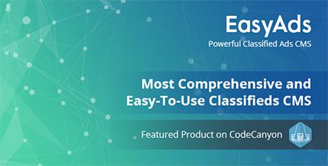 Powerful Classified Ads CMS - EasyAds by CodinBit | CodeCanyon