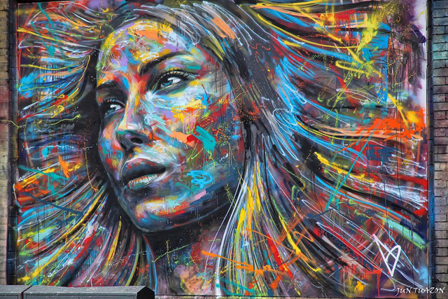 Spray Paint Portraits of David Walker