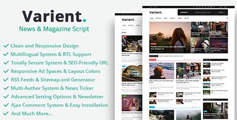 Varient - News & Magazine Script by Codingest   CodeCanyon