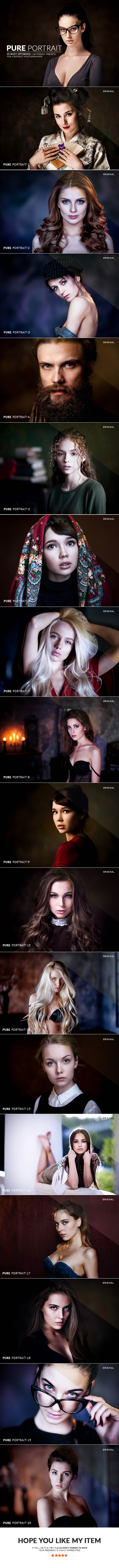 20 Pure Portrait Lightroom Presets by Straightdesign | GraphicRiver