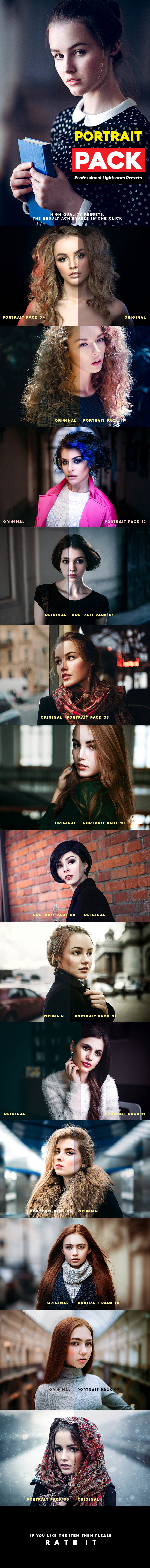 Portrait Pack 14 Professional Lightroom Presets by h_s | GraphicRiver