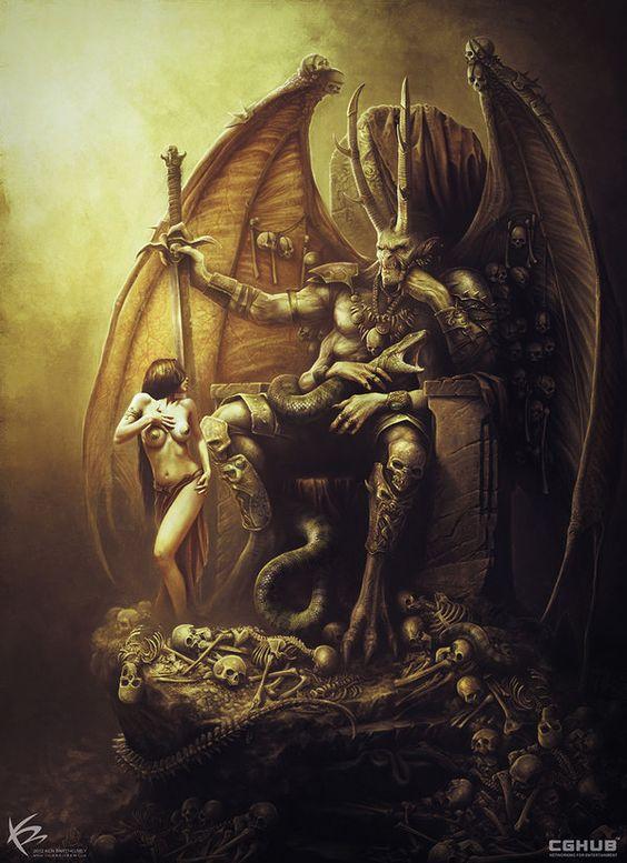 Ilustración Demon Lord por KENBARTHELMEY