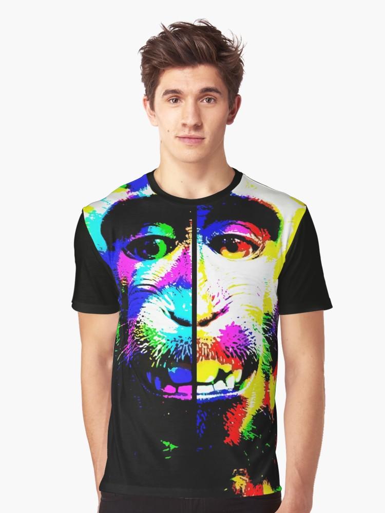 Camisetas gráficas «Mono alucinado» de angeldecuir | Redbubble