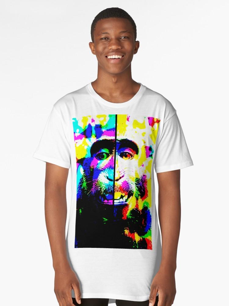 Camisetas largas «Mono alucinado» de angeldecuir | Redbubble