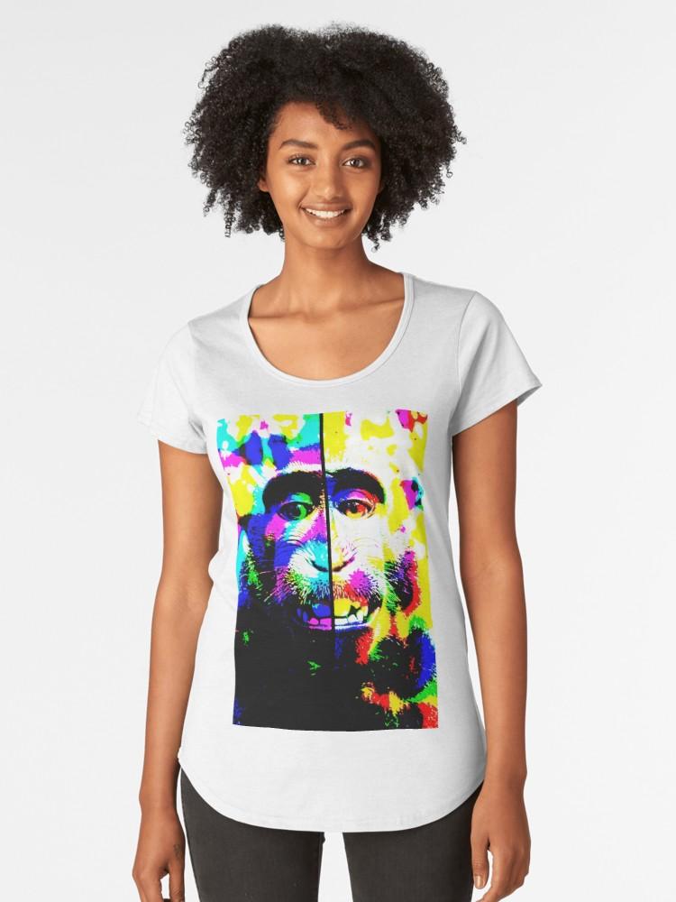 Camisetas premium para mujer «Mono alucinado» de angeldecuir | Redbubble