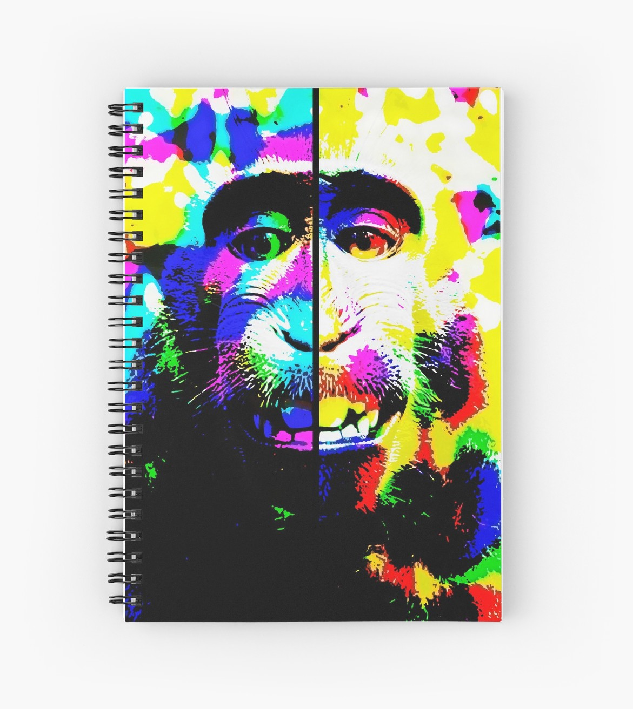 Cuadernos de espiral «Mono alucinado» de angeldecuir | Redbubble