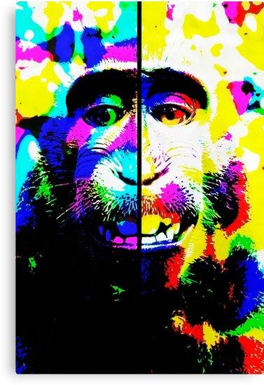 Lienzos «Mono alucinado» de angeldecuir | Redbubble