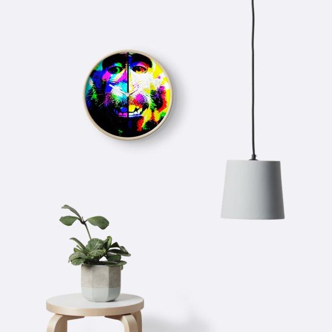 Relojes «Mono alucinado» de angeldecuir | Redbubble