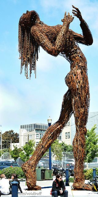 Ms Rusty Ecstasy by VoidBuff Iron statue in San Francisco-Calif