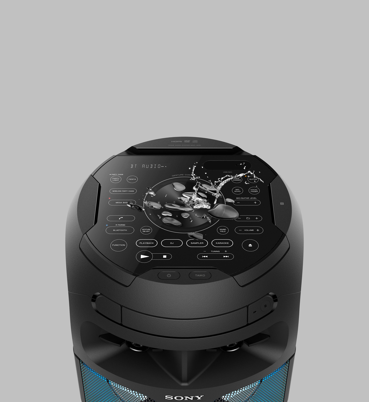 Quiero el SONY MHC-V81D para armar la fiesta al sonido de tambores y luces 360