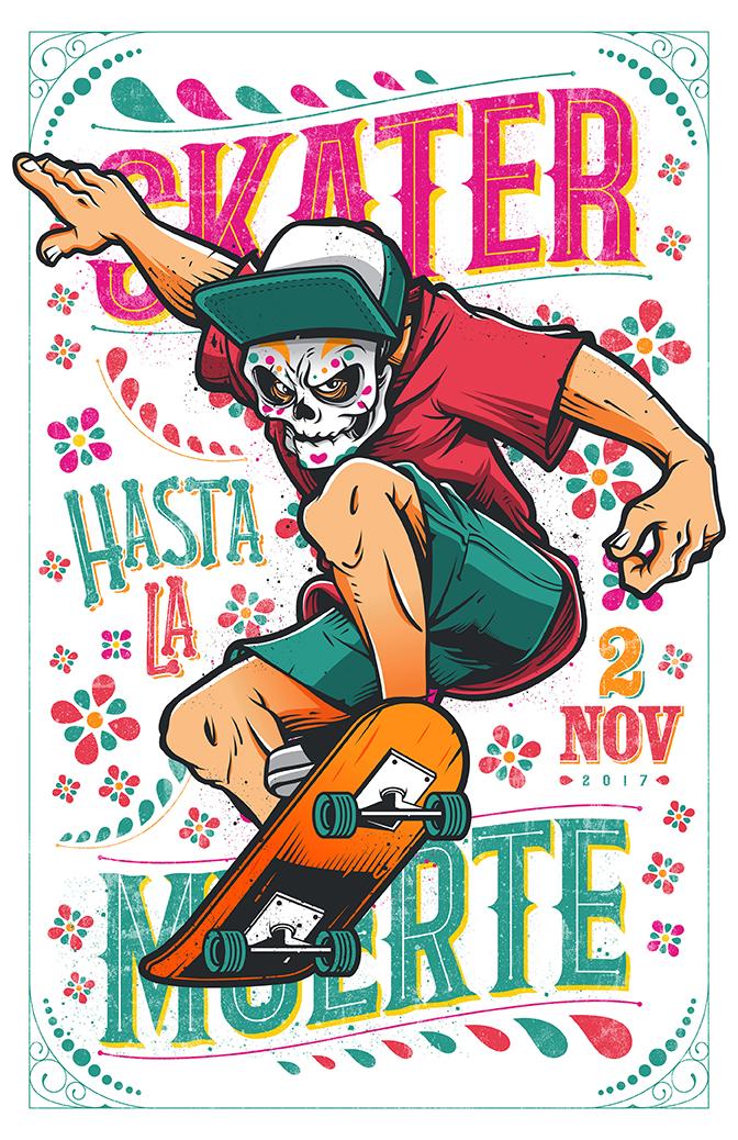 IlustraciónSkater hasta la Muerte por Sr. Cucho