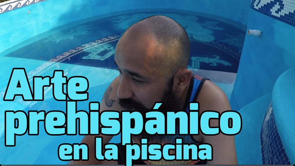 Video de arte prehispánico en la piscina