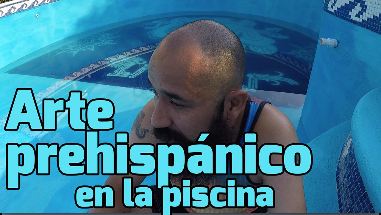 Video de arte prehispánico en la piscina