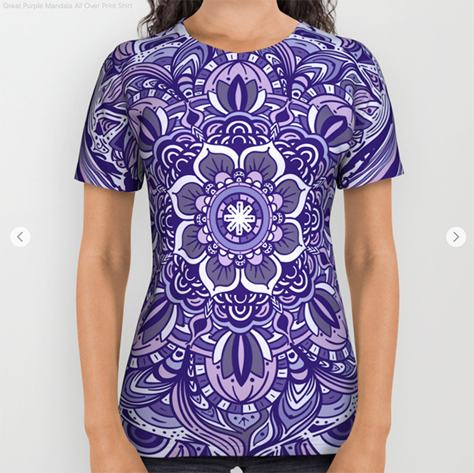 Great Purple Mandala All Over Print Shirt by angeldecuir | Society6