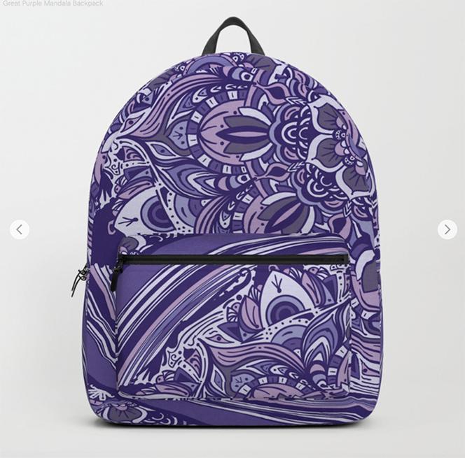 Great Purple Mandala Backpack by angeldecuir | Society6