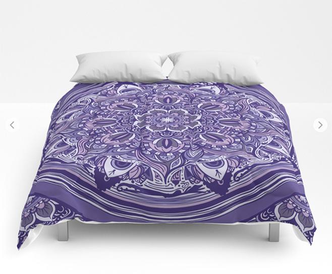 Great Purple Mandala Comforters by angeldecuir | Society6