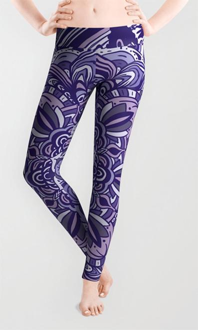 Great Purple Mandala Leggings by angeldecuir | Society6