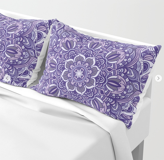 Great Purple Mandala Pillow Sham by angeldecuir | Society6