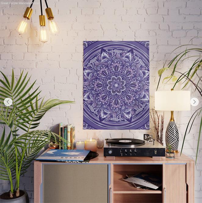 Great Purple Mandala Poster by angeldecuir | Society6