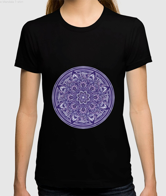 Great Purple Mandala T-shirt by angeldecuir | Society6
