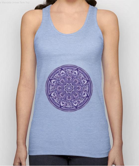 Great Purple Mandala Unisex Tank Top by angeldecuir | Society6