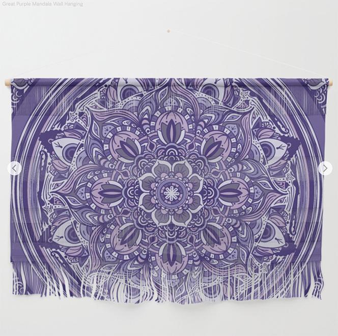 Great Purple Mandala Wall Hanging  by Angel Decuir | Society6