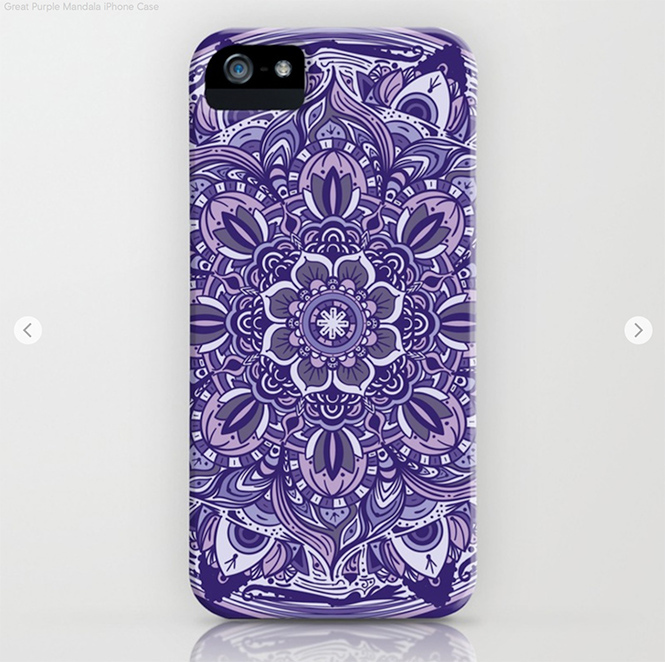 Great Purple Mandala Clear iPhone Case by angeldecuir | Society6