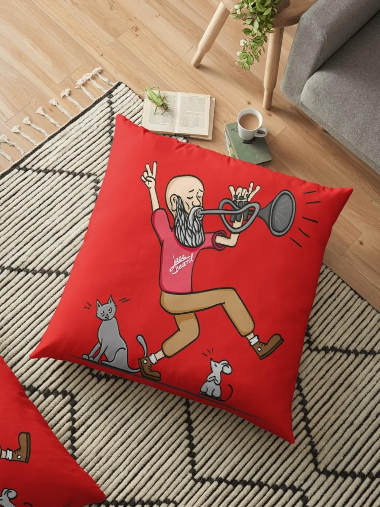 Cojines de suelo «Jazz Beard» de angeldecuir | Redbubble