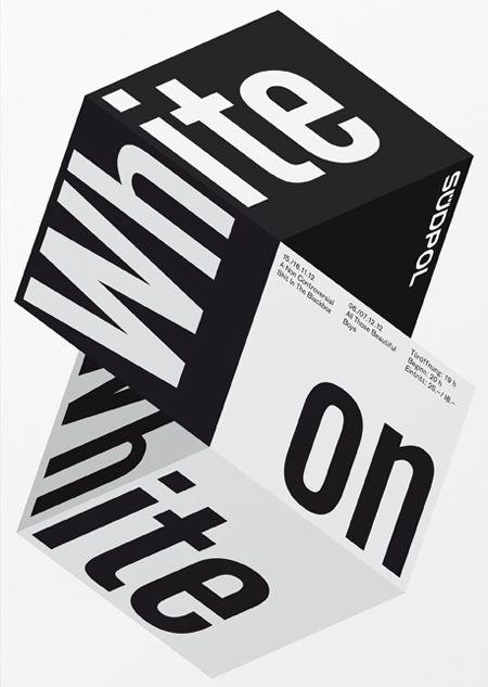 Typographic posters by Felix Pfäffli