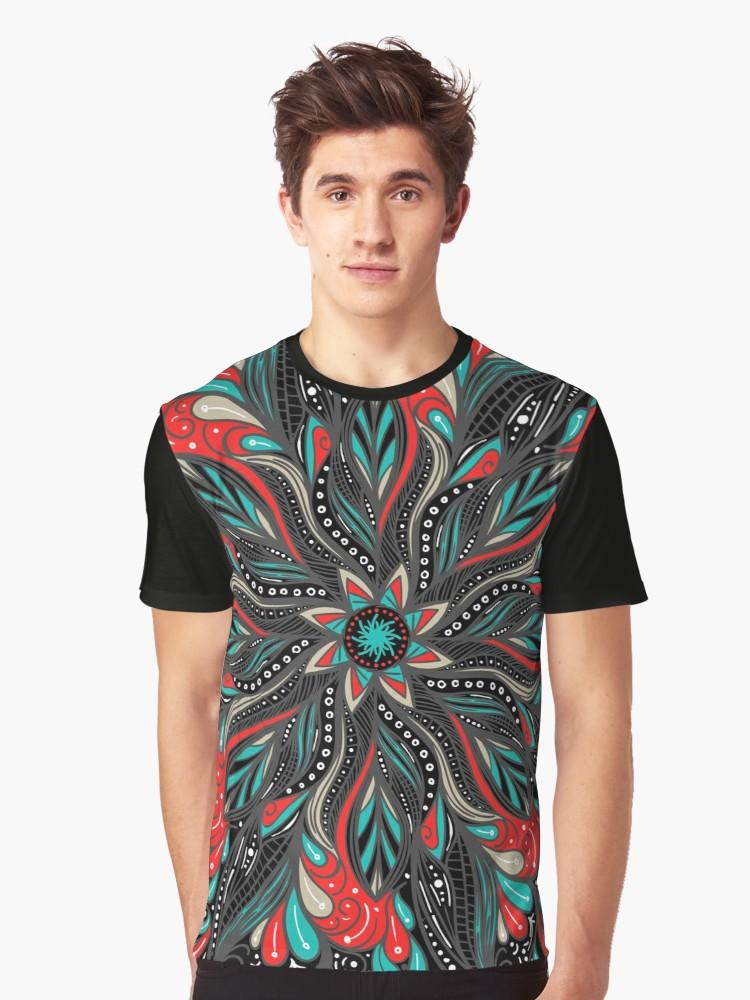 Camisetas gráficas «Mandala Flowers» de angeldecuir | Redbubble