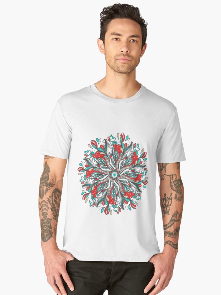 Camisetas premium para hombre «Mandala Flowers» de angeldecuir | Redbubble