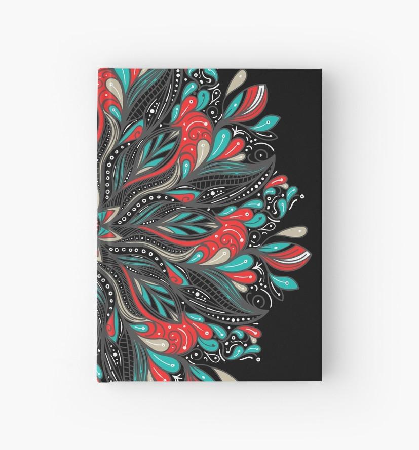 Cuadernos de tapa dura «Mandala Flowers» de angeldecuir | Redbubble