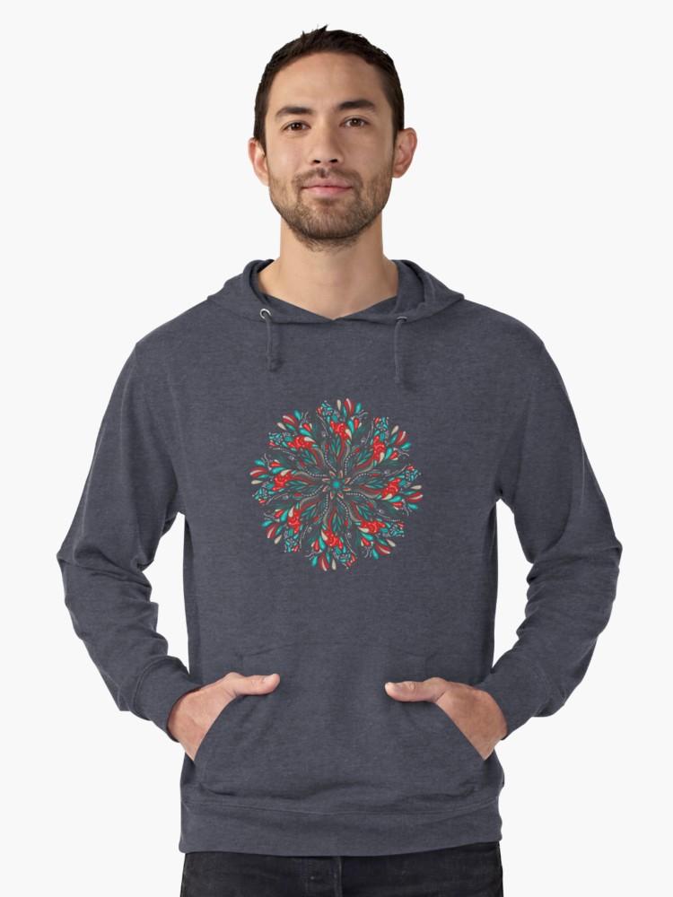 Sudaderas con capucha ligeras «Mandala Flowers» de angeldecuir | Redbubble